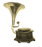 Gramophone. An old gramophone ornate with royalty free stock photo