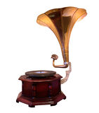 Gramophone. An old gramophone ornate with stock photos