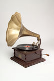 Gramophone. Antique gramophone photographed on white Royalty Free Stock Photography