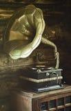 Gramophone. Vintage, retro old gramophone. Equipment of entertainment Royalty Free Stock Image