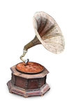 Gramophone. An antique wooden antique gramophone royalty free stock photo