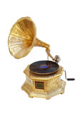 Gramophone. An old gramophone ornate with stock photography