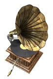 Gramophone. 3d render of antique gramophone vector illustration