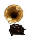 Gramophone. Old gramophone isolated on white, clipping path Stock Photo
