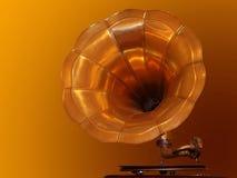 Gramophone. Old Gramophone Singing Stock Image