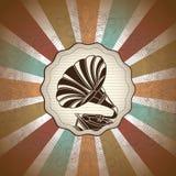 Gramophone stock illustration