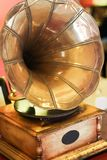 Gramophone. The first device for recording and playing sound Stock Photography