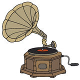 Gramophone. Hand drawing of a classic gramophone Royalty Free Stock Photo