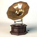 Gramophone. Hight detailed old gramophone Sound Master model Stock Photos