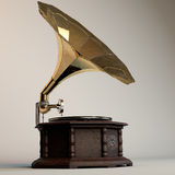 Gramophone. Hight detailed old gramophone Sound Master model Stock Photo