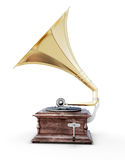 Gramophone. Isolated on white background. 3d render image Stock Image