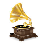 Gramophone isolted on white Stock Images