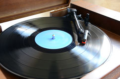 Gramophone. With Long Playing Record royalty free stock images