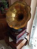 Gramophone. Music old gramophone Stock Photography