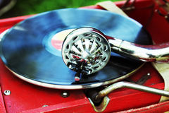 Gramophone needle closeup Royalty Free Stock Photography