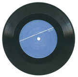 Gramophone  record. Vintage scratched gramophone record with a blue label Stock Photography