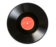 Gramophone  record. Vintage vinyl gramophone  record on white Royalty Free Stock Images