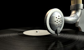 Gramophone And Record Royalty Free Stock Photography