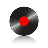 Gramophone record with reflect Royalty Free Stock Photo