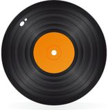 Gramophone record in vector Stock Image