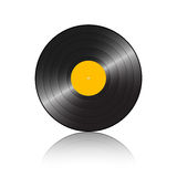 Gramophone record yellow Royalty Free Stock Image