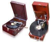 Gramophone red color Stock Image