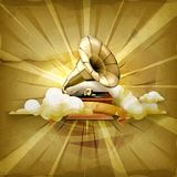 Gramophone vector background Stock Photography