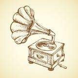 Gramophone. Vector drawing Royalty Free Stock Photography