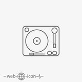 Gramophone vector icon Stock Images