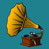 Gramophone. A Vector Illustration of Gramophone Stock Photo
