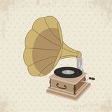 Gramophone vector. Vintage Gramophone Stylish the Good Old Music Royalty Free Stock Images