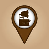 Gramophone vintage symbol icon Royalty Free Stock Image