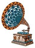 Gramophone. Zentangle stylized. Pattern. Vector illustration. Fr Stock Photography