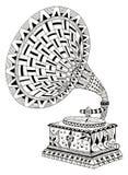 Gramophone. Zentangle stylized Stock Photos