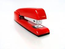 Grampeador vermelho brilhante imagens de stock royalty free