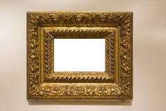 Grampeamento da placa da imagem da pintura de Art Museum Frame Vintage Ornate fotografia de stock royalty free