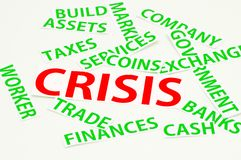 Grampeamentos sobre a crise Imagens de Stock Royalty Free