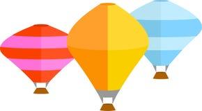Grampo Art Design do vetor dos balões de ar quente ilustração do vetor