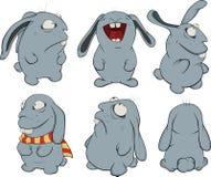 Grampo art. Sobre coelhos azuis Fotos de Stock