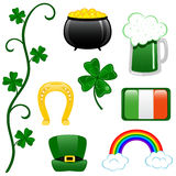 Grampo-arte do dia do St. Patricks Imagens de Stock
