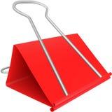 Grampo de papel vermelho Fotografia de Stock