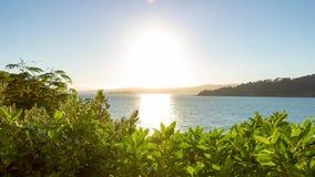 Grampo dourado de Timelapse Nova Zelândia 4k do nascer do sol vídeos de arquivo