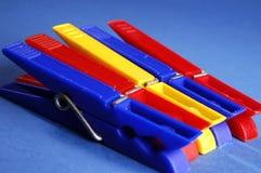 Grampos coloridos Fotografia de Stock