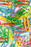Grampos coloridos Imagem de Stock