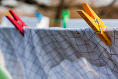 Grampos da lavanderia Imagens de Stock