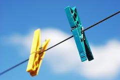 Grampos da lavanderia Fotografia de Stock