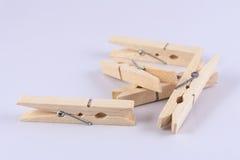 Grampos de madeira Foto de Stock
