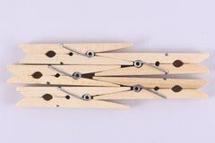 Grampos de madeira Imagens de Stock Royalty Free