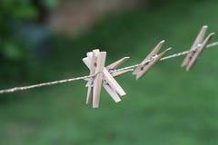 Grampos de madeira Fotos de Stock Royalty Free