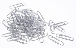 Grampos de papel Imagem de Stock